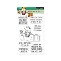 Penny Black - Winter Wishes Collection - Clear Photopolymer Stamps - Winter Warmup