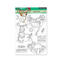 Penny Black - Clear Photopolymer Stamps - Christmas - Slothmas
