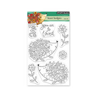 Penny Black - Clear Photopolymer Stamps - Heart Hedgies