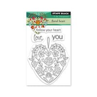 Penny Black - Clear Photopolymer Stamps - Floral Heart