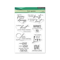 Penny Black - Clear Photopolymer Stamps - Love Quotes