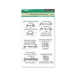 Penny Black - Clear Photopolymer Stamps - Friendship Sentiments