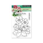 Penny Black - Clear Photopolymer Stamps - Pansy Gaze