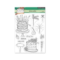 Penny Black - Delight Collection - Clear Photopolymer Stamps - Delectable
