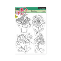 Penny Black - Delight Collection - Clear Photopolymer Stamps - Thriving