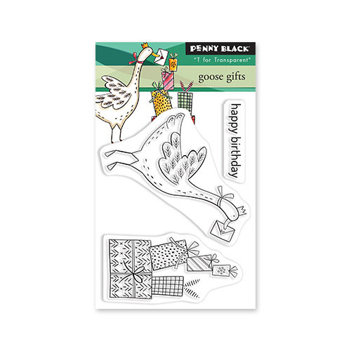 Penny Black - Delight Collection - Clear Photopolymer Stamps - Goose Gifts