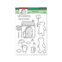 Penny Black - Delight Collection - Clear Photopolymer Stamps - Welcome
