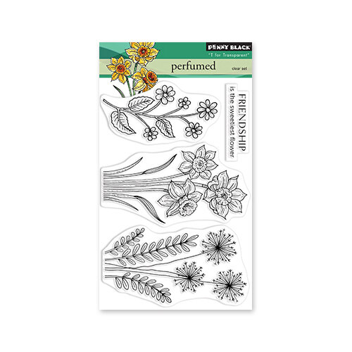 Penny Black - Delight Collection - Clear Photopolymer Stamps - Perfumed