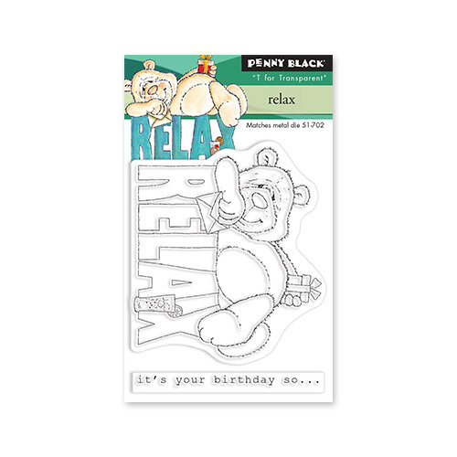 Penny Black - Delight Collection - Clear Photopolymer Stamps - Relax
