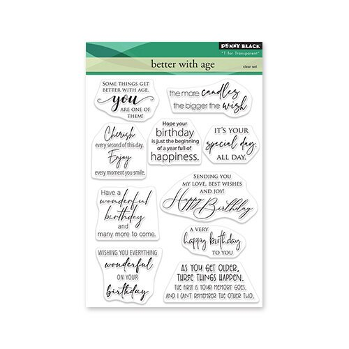 Penny Black - Delight Collection - Clear Photopolymer Stamps - Better With Age