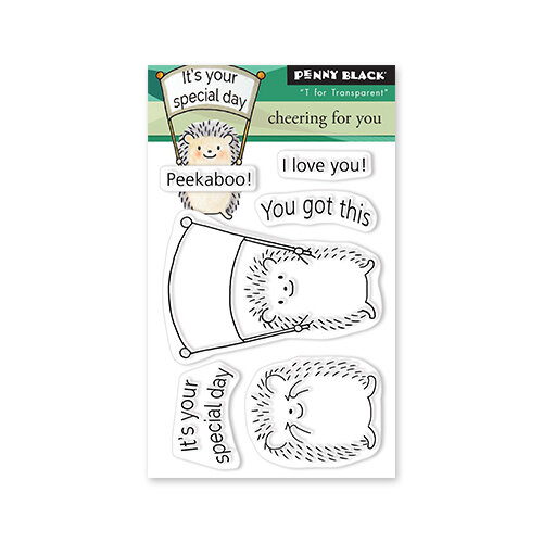 Penny Black - Delight Collection - Clear Photopolymer Stamps - Cheering For You