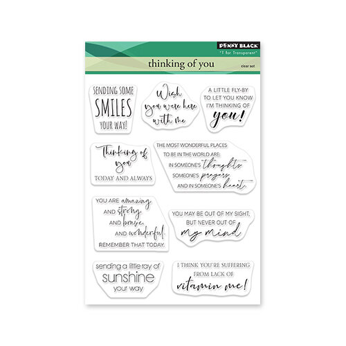 Penny Black - Delight Collection - Clear Photopolymer Stamps - Thinking Of You