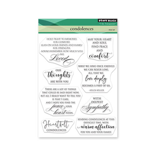 Penny Black - Delight Collection - Clear Photopolymer Stamps - Condolences
