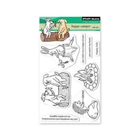 Penny Black - Scooter Collection - Clear Photopolymer Stamps - Happy Camper