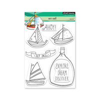 Penny Black - Dream and Discover Collection - Clear Photopolymer Stamps - Set Sail