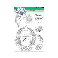 Penny Black - Dream and Discover Collection - Clear Photopolymer Stamps - Seashells