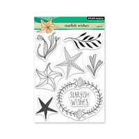 Penny Black - Dream and Discover Collection - Clear Photopolymer Stamps - Starfish Wishes