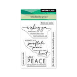 Penny Black - Home For Christmas Collection - Clear Photopolymer Stamps - Touched By Peace