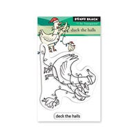 Penny Black - Christmas - Making Spirits Bright Collection - Clear Photopolymer Stamps - Duck The Halls