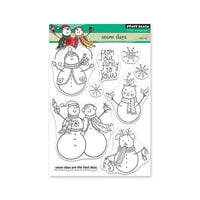 Penny Black - Christmas - Making Spirits Bright Collection - Clear Photopolymer Stamps - Snow Days
