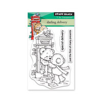 Penny Black - Christmas - Making Spirits Bright Collection - Clear Photopolymer Stamps - Darling Delivery
