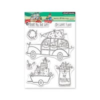 Penny Black - Christmas - Making Spirits Bright Collection - Clear Photopolymer Stamps - Merry All The Way