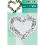 Penny Black - Cling Mounted Rubber Stamps - Heart Wreath