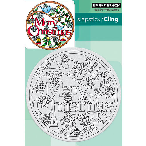 Penny Black - Christmas - Cling Mounted Rubber Stamps - Christmas in the Round