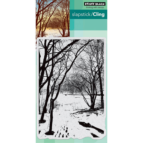 Penny Black - Cling Mounted Rubber Stamps - Wintery Trail
