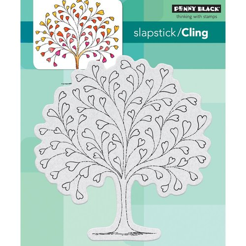 Penny Black - Cling Mounted Rubber Stamps - Tree-Heart