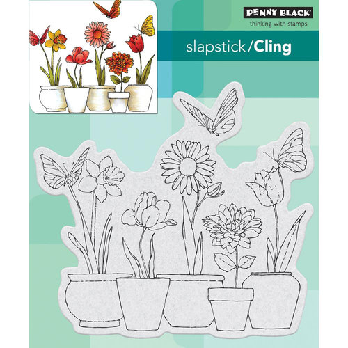 Penny Black - Cling Mounted Rubber Stamps - Potted Flowers