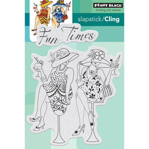 Penny Black - Cling Mounted Rubber Stamps - Fun Time Girls