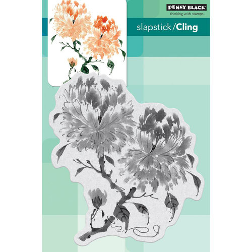 Penny Black - Cling Mounted Rubber Stamps - Peony