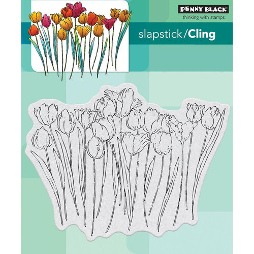 Penny Black - Cling Mounted Rubber Stamps - Tulip Queue