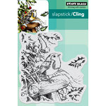 Penny Black - Christmas - Cling Mounted Rubber Stamps - Snowy Perch