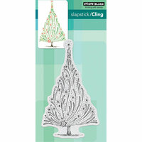 Penny Black - Christmas - Cling Mounted Rubber Stamps - Starry Tree