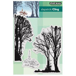 Penny Black - Peaceful Winter Collection - Christmas - Cling Mounted Rubber Stamps - Snowy Village
