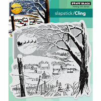 Penny Black - Christmas - Cling Mounted Rubber Stamps - Santa's Visit