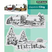 Penny Black - Christmas - Cling Mounted Rubber Stamps - Snow Covered