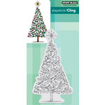 Penny Black - Christmas - Cling Mounted Rubber Stamps - Tree of Holly
