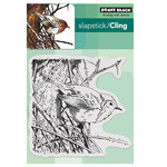 Penny Black - Peaceful Winter Collection - Christmas - Cling Mounted Rubber Stamps - Feathers and Twigs