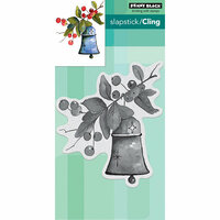 Penny Black - Christmas - Cling Mounted Rubber Stamps - Bell and Berries