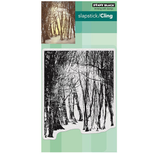 Penny Black - Christmas - Cling Mounted Rubber Stamps - Winter's Forest