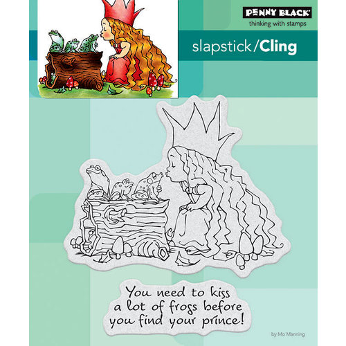 Penny Black - Cling Mounted Rubber Stamps - Kissing Frogs