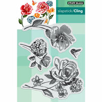 Penny Black - Cling Mounted Rubber Stamps - Flower Pageant