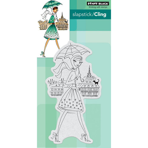 Penny Black - Cling Mounted Rubber Stamps - Parisian Stroll