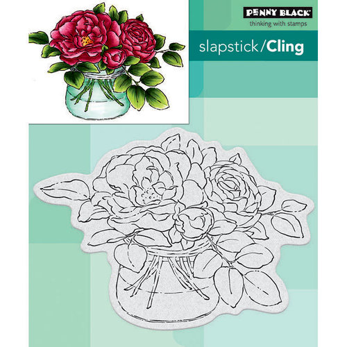 Penny Black - Cling Mounted Rubber Stamps - Rose Bowl