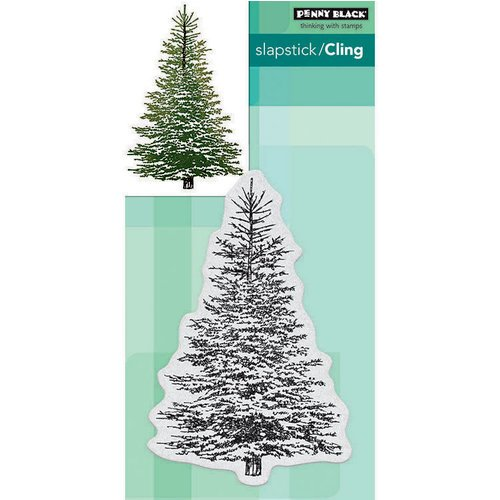 Penny Black - Christmas - Cling Mounted Rubber Stamps - Winter Tree
