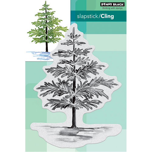 Penny Black - Christmas - Cling Mounted Rubber Stamps - Christmas Foliage