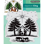 Penny Black - Christmas - Cling Mounted Rubber Stamps - Nativity